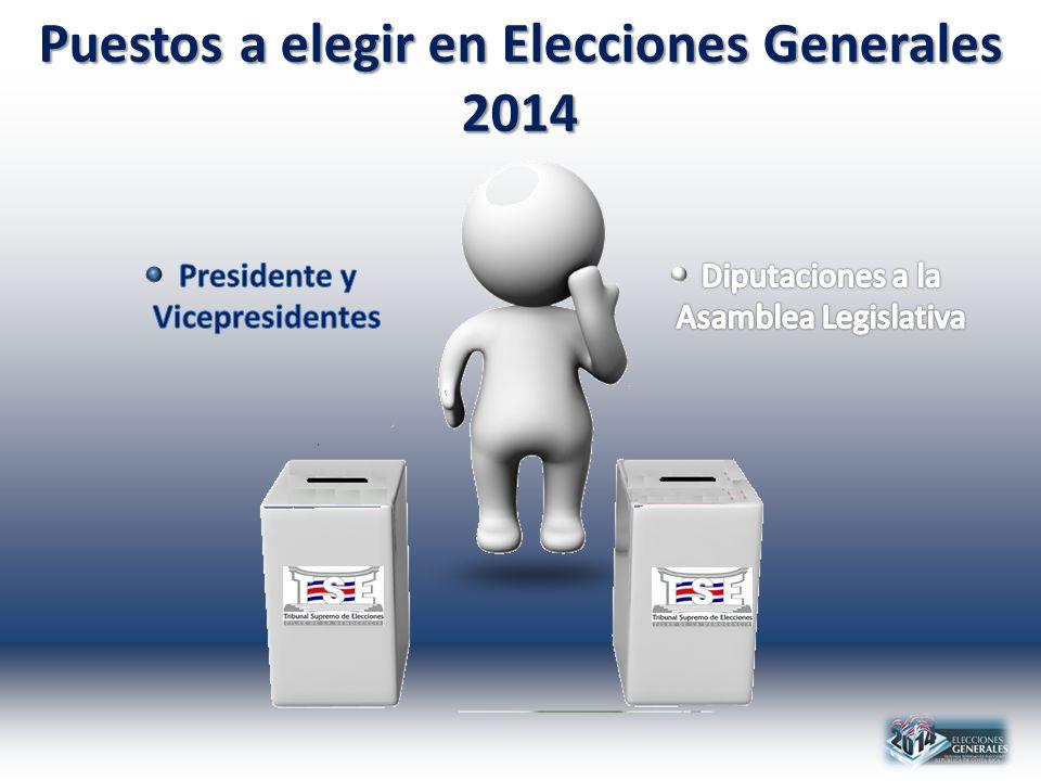 Puestos a elegir en Elecciones Generales 2014