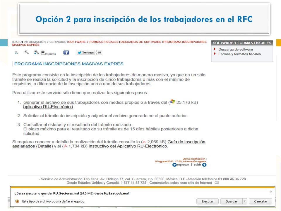 Aplicación instalada Registro del empleador Menú de captura