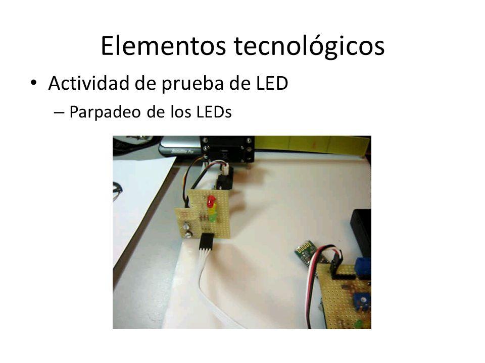 Elementos tecnológicos Actividad de prueba de LED – Parpadeo de los LEDs