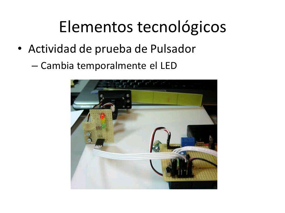 Elementos tecnológicos Actividad de prueba de Pulsador – Cambia temporalmente el LED