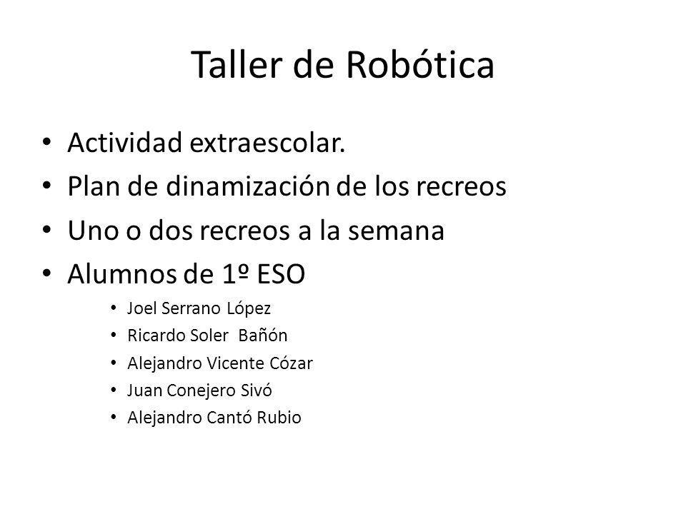 Taller de Robótica Actividad extraescolar.