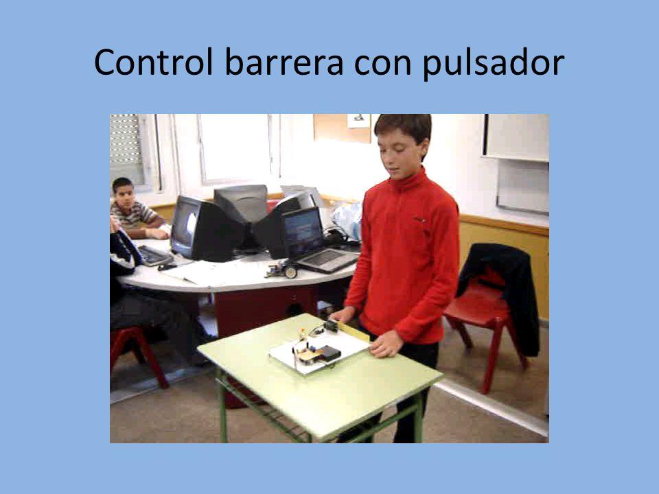 Control barrera con pulsador