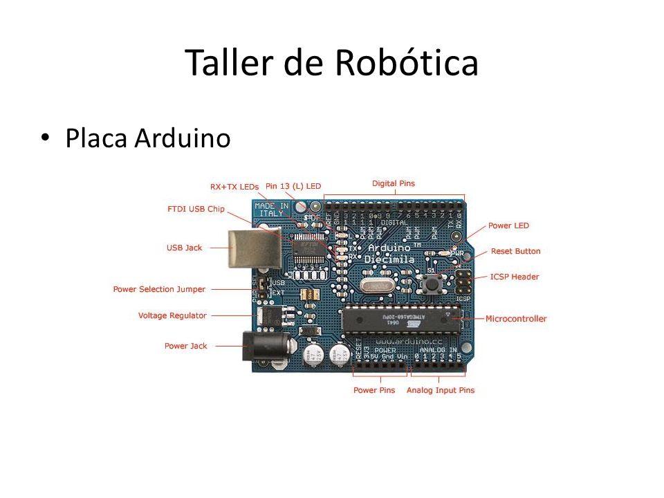 Taller de Robótica Placa Arduino
