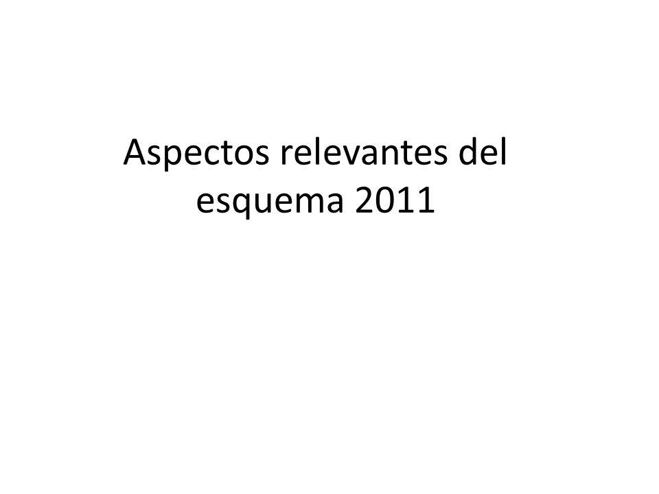 Aspectos relevantes del esquema 2011