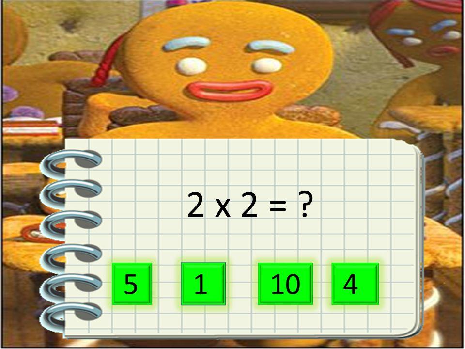 2 x 2 = 5 1 10 4