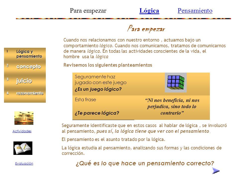 elementos de lógica Formas del pensamiento Lógica y pensamiento Concepto Juicio Razonamiento