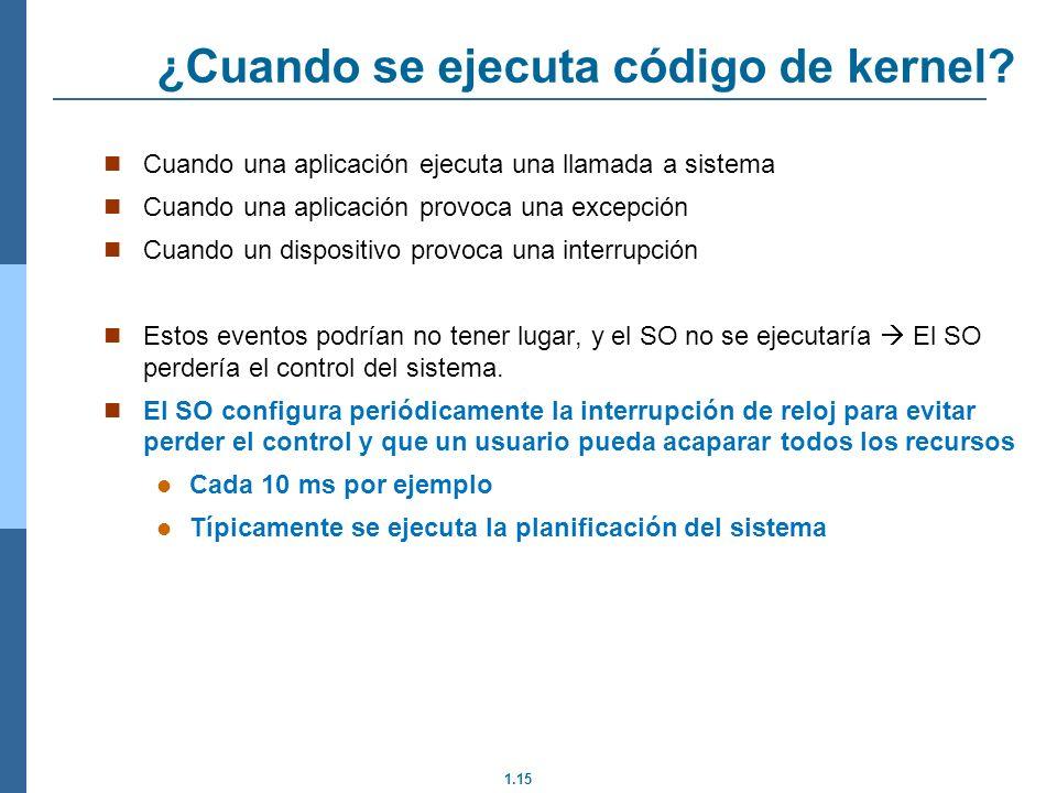 1.15 ¿Cuando se ejecuta código de kernel.