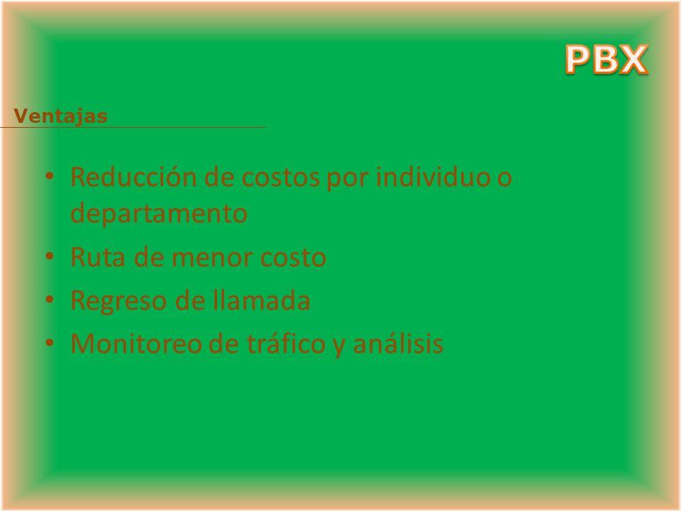 Red corporativa Teléfono análogo CENTRAL LOCAL RTPC (PSTN) PBX 2 CENTRAL TANDEM Extensiones ó anexos PBX 1 Troncal TIE Esta interconexión puede ser mediante líneas normales analógicas o mediante troncales especiales que permiten servicios DID, cabecera PBX, etc.
