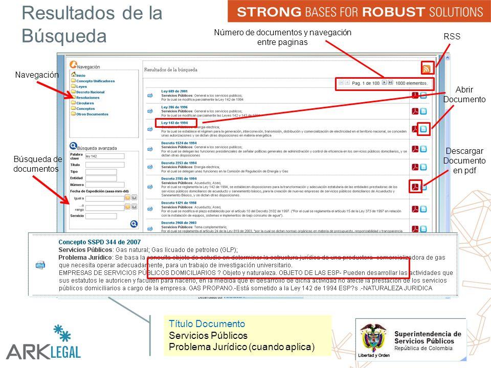 Resultados de la Búsqueda Navegación Búsqueda de documentos Abrir Documento RSS Descargar Documento en pdf Número de documentos y navegación entre paginas Título Documento Servicios Públicos Problema Jurídico (cuando aplica)