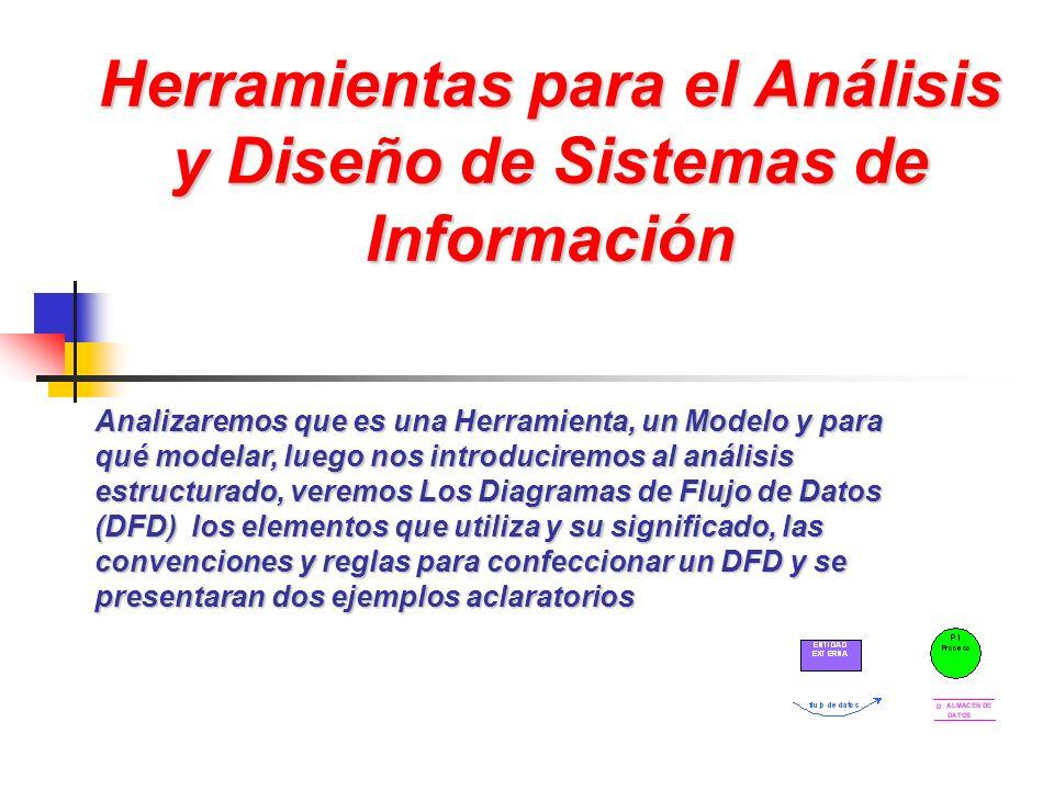 Herramientas para el Análisis y Diseño de Sistemas de Información Analizaremos que es una Herramienta, un Modelo y para qué modelar, luego nos introdu