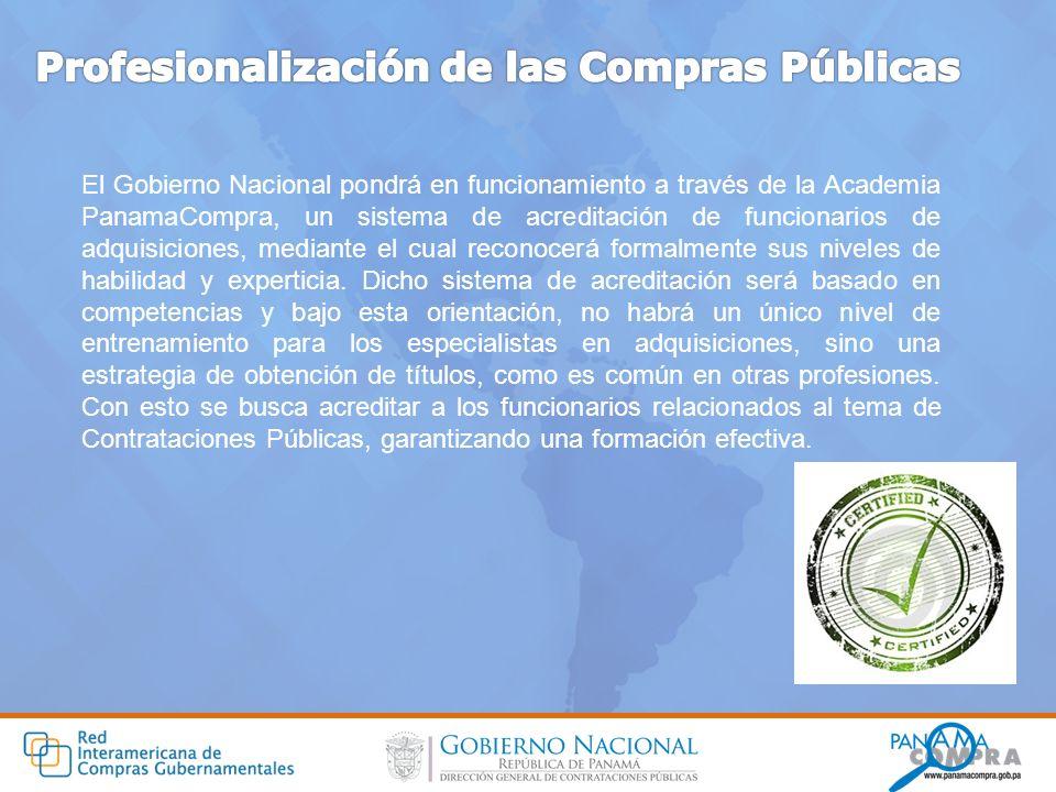 El Gobierno Nacional pondrá en funcionamiento a través de la Academia PanamaCompra, un sistema de acreditación de funcionarios de adquisiciones, media