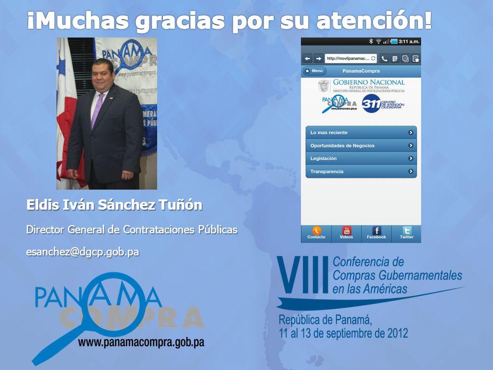 Eldis Iván Sánchez Tuñón Director General de Contrataciones Públicas esanchez@dgcp.gob.pa