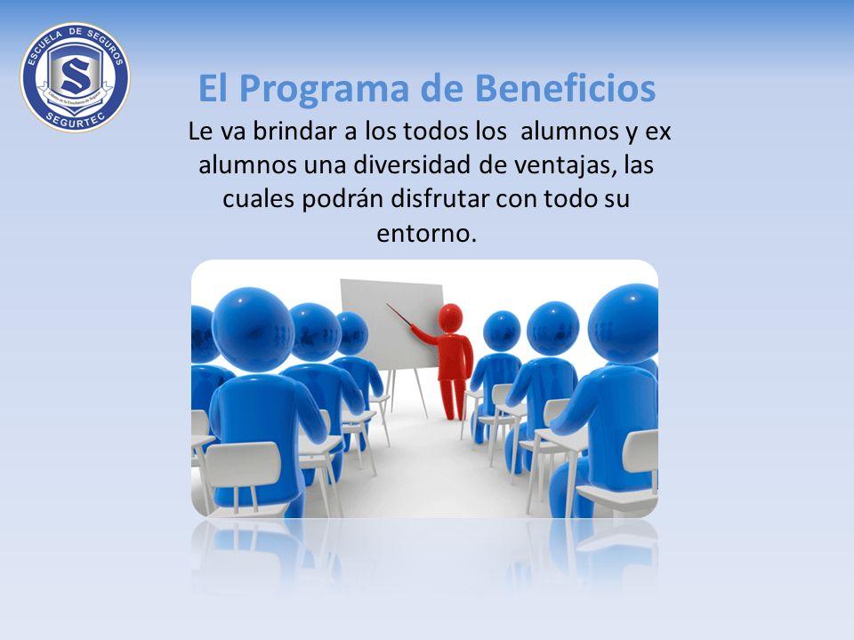 El Programa de Beneficios Le va brindar a los todos los alumnos y ex alumnos una diversidad de ventajas, las cuales podrán disfrutar con todo su entor