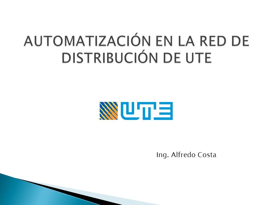 Objetivos Automatismo de reconfiguración automática de la red de distribución Automatismo de regulación de tensión en transformadores de media tensión Costos y retorno de Inversión Conclusiones