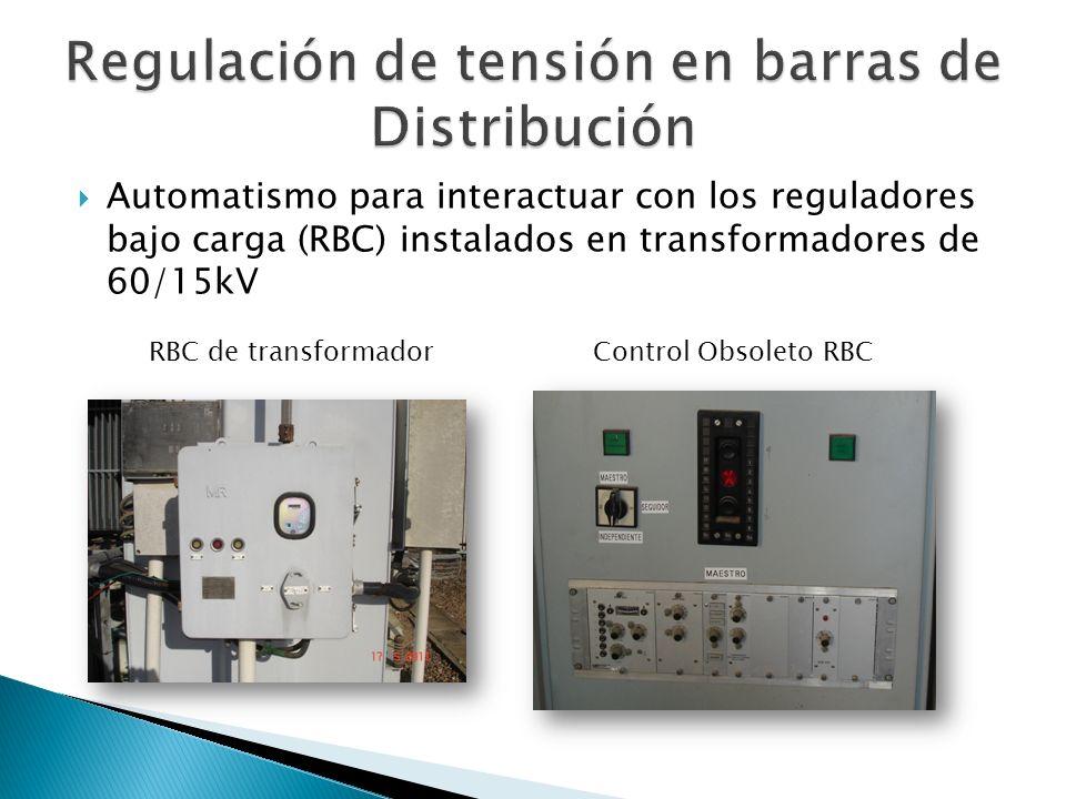 Automatismo para interactuar con los reguladores bajo carga (RBC) instalados en transformadores de 60/15kV Control Obsoleto RBCRBC de transformador