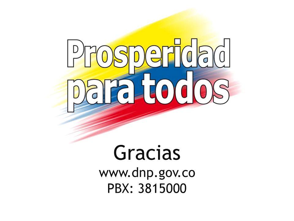 Gracias www.dnp.gov.co PBX: 3815000