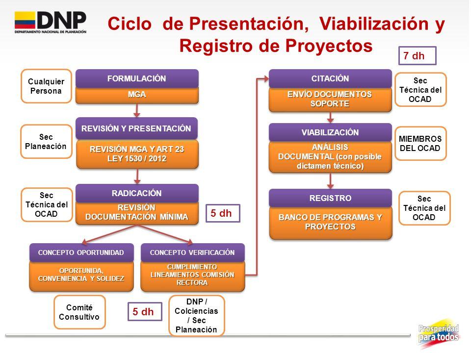 BANCO DE PROGRAMAS Y PROYECTOS ANÁLISIS DOCUMENTAL (con posible dictamen técnico) ANÁLISIS ENVÍO DOCUMENTOS SOPORTE CUMPLIMIENTO LINEAMIENTOS COMISIÓN