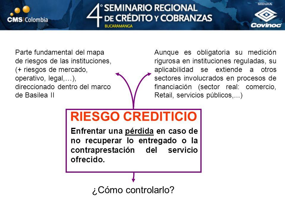 EN CONCLUSIÓN… nivel de riesgo Es posible una gestión integral, proactiva y medible del riesgo de crédito que use eficientemente la información disponible y que diferencie a los clientes de acuerdo a su nivel de riesgo.