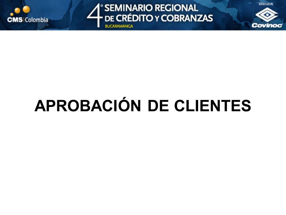 APROBACIÓN DE CLIENTES