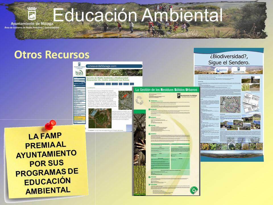 Educación Ambiental Otros Recursos LA FAMP PREMIA AL AYUNTAMIENTO POR SUS PROGRAMAS DE EDUCACIÓN AMBIENTAL