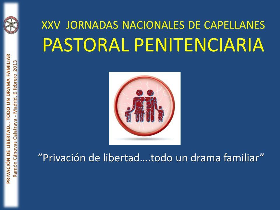 XXV JORNADAS NACIONALES DE CAPELLANES PASTORAL PENITENCIARIA Privación de libertad….todo un drama familiar