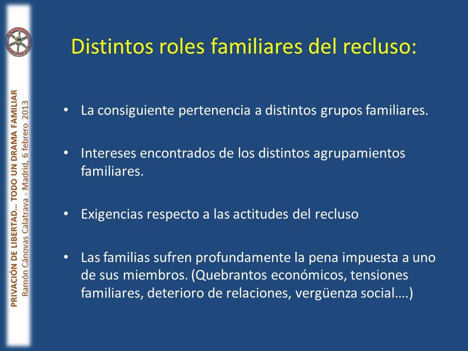 La consiguiente pertenencia a distintos grupos familiares. Intereses encontrados de los distintos agrupamientos familiares. Exigencias respecto a las