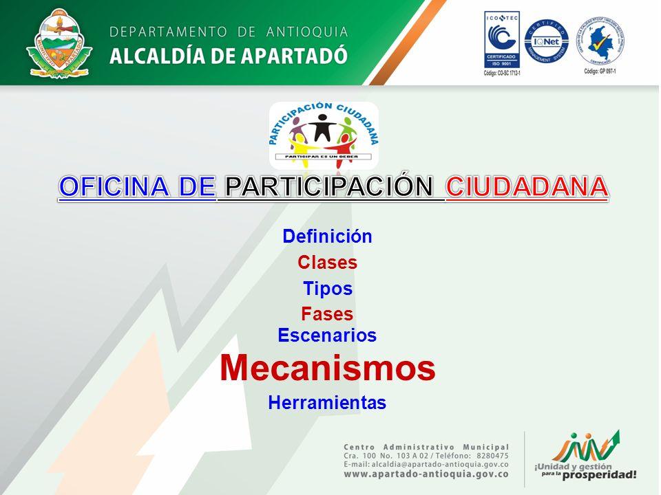 Iniciativa popular LEY 134/1994 MECANISMOS DE PARTICIPACIÓN OFICINA DE PARTICIPACIÓN CIUDADANA Referendo.