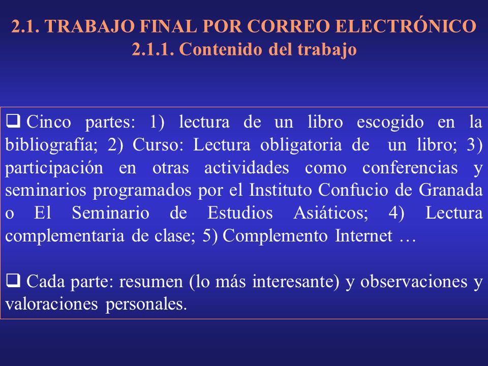 2.1. TRABAJO FINAL POR CORREO ELECTRÓNICO 2.1.1.