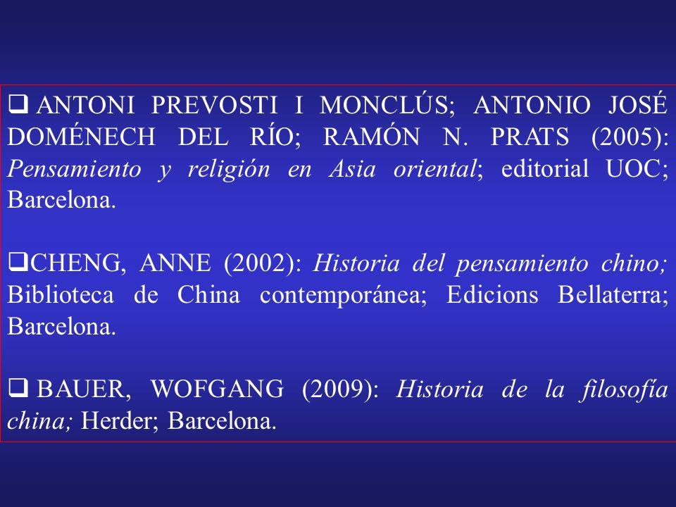 ANTONI PREVOSTI I MONCLÚS; ANTONIO JOSÉ DOMÉNECH DEL RÍO; RAMÓN N.