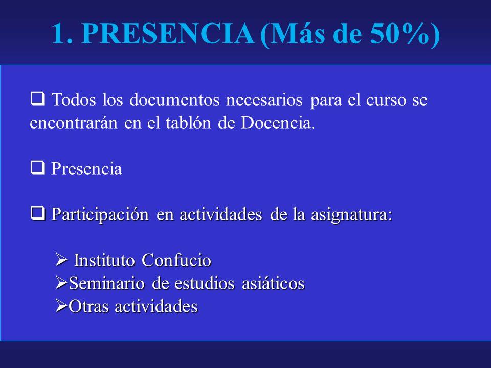 Todos los documentos necesarios para el curso se encontrarán en el tablón de Docencia.