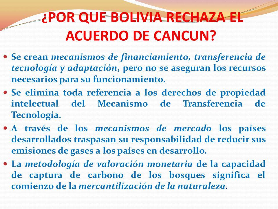ORGANIZAR UN MOVIMIENTO MUNDIAL DE PUEBLOS Como en su momento expresó el Jefe del Estado Plurinacional de Bolivia, Evo Morales: Si los gobiernos, los presidentes, los organismos internacionales no toman en cuenta y no respetan el Protocolo de Kioto ni aprovechan el documento de Cochabamba veremos la forma de cómo organizarnos a nivel mundial para cambiar modelos y sistemas vigentes en este momento que están haciendo mucho daño en todo el mundo .