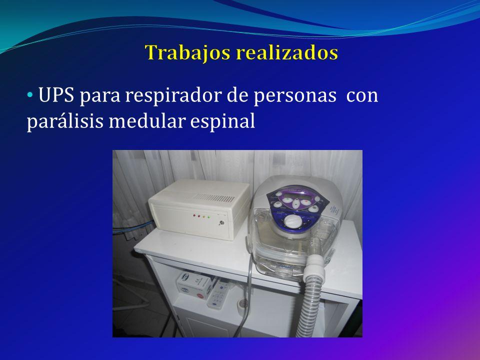 UPS para respirador de personas con parálisis medular espinal