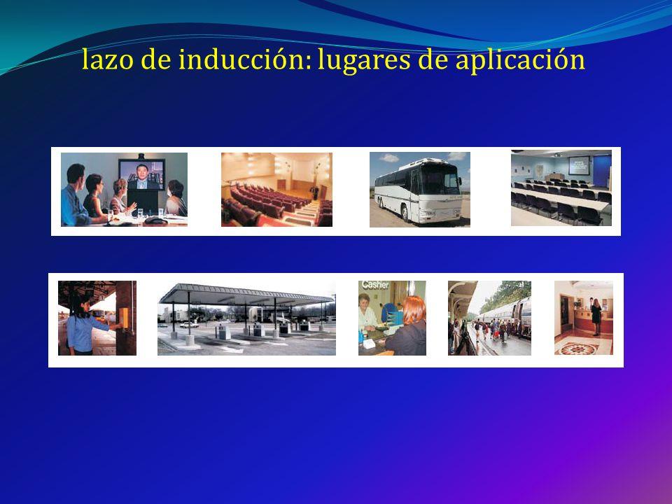 lazo de inducción: lugares de aplicación