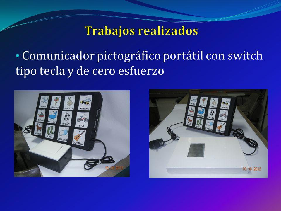 Comunicador pictográfico portátil con switch tipo tecla y de cero esfuerzo