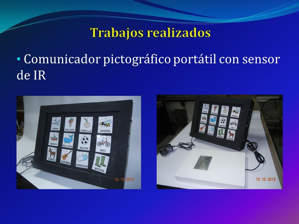 Comunicador pictográfico portátil con sensor de IR