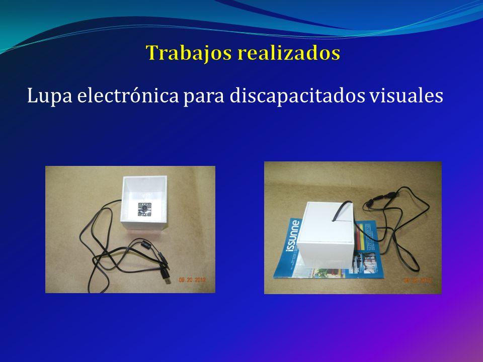 Lupa electrónica para discapacitados visuales