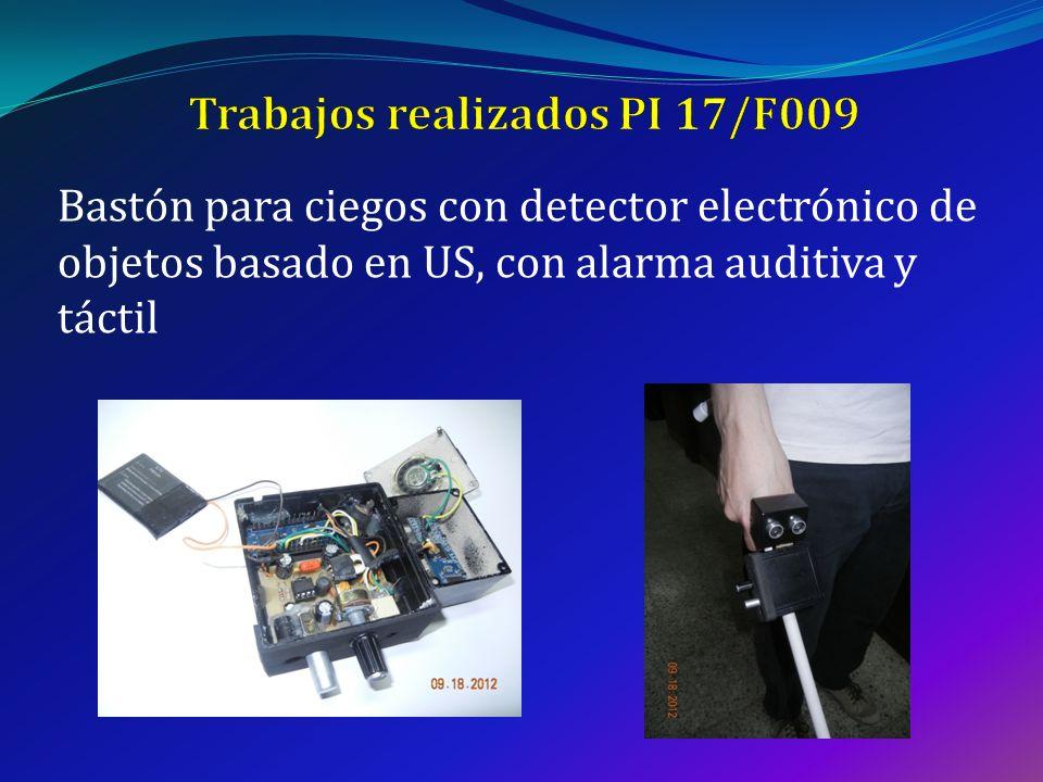 Bastón para ciegos con detector electrónico de objetos basado en US, con alarma auditiva y táctil