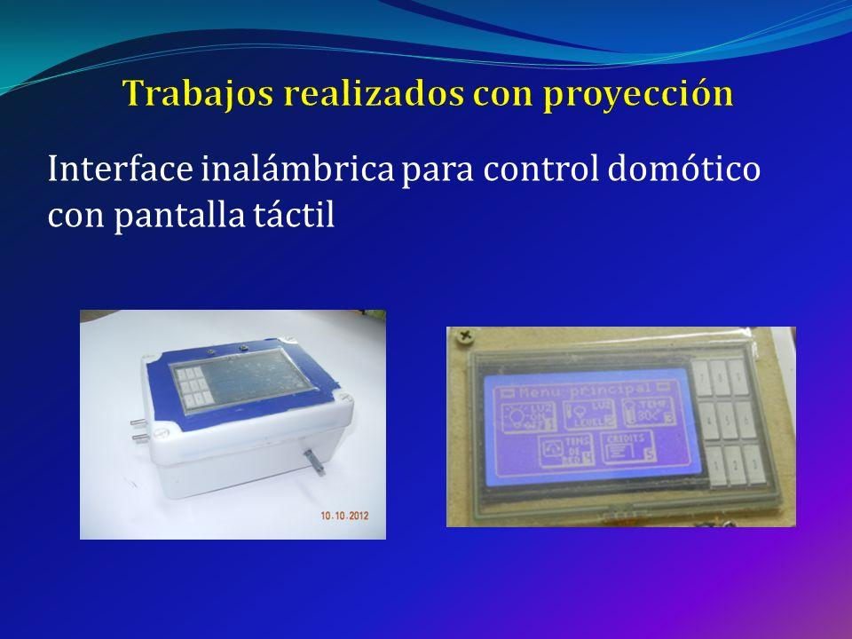 Interface inalámbrica para control domótico con pantalla táctil