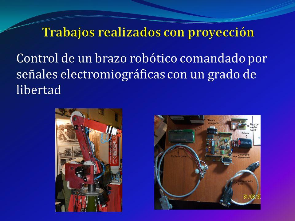 Control de un brazo robótico comandado por señales electromiográficas con un grado de libertad