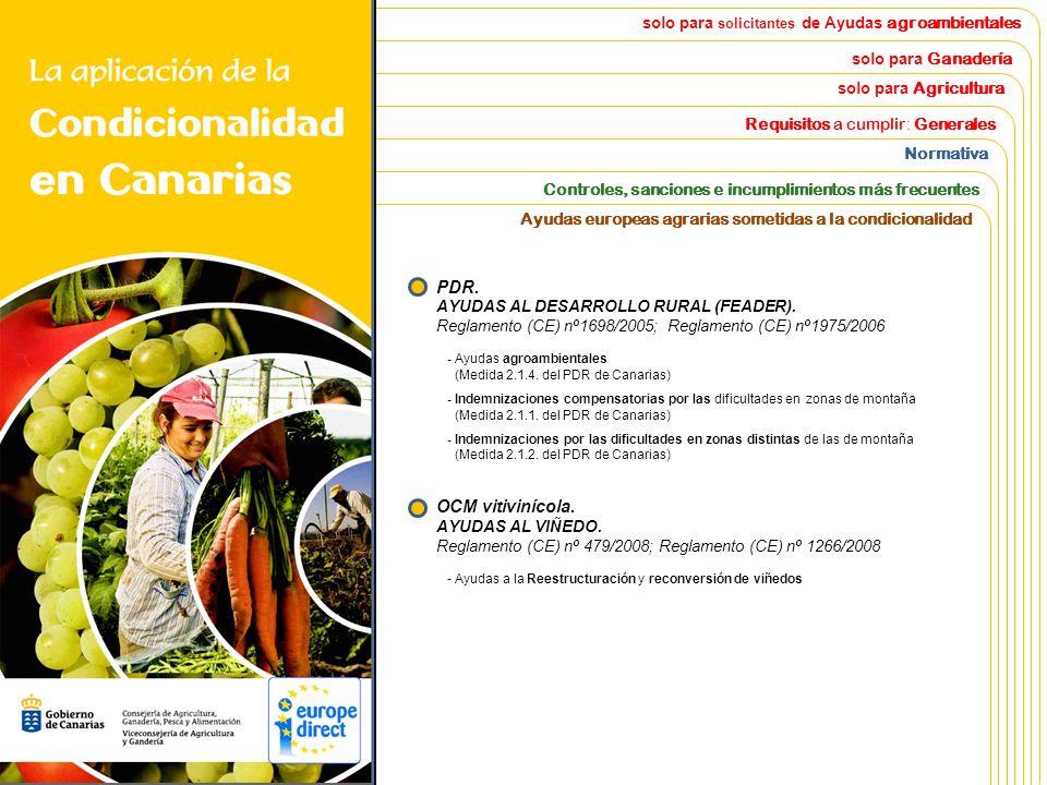 solo para solicitantes de Ayudas agroambientales solo para Ganadería solo para Agricultura Requisitos a cumplir : Generales Normativa Controles Ayudas europeas agrarias sometidas a la condicionalidad Introducción Todo lo que hay que saber sobre Condicionalidad