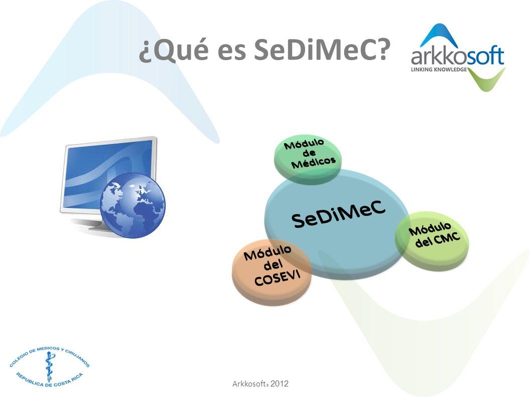 Arkkosoft ® 2012 ¿Qué es SeDiMeC