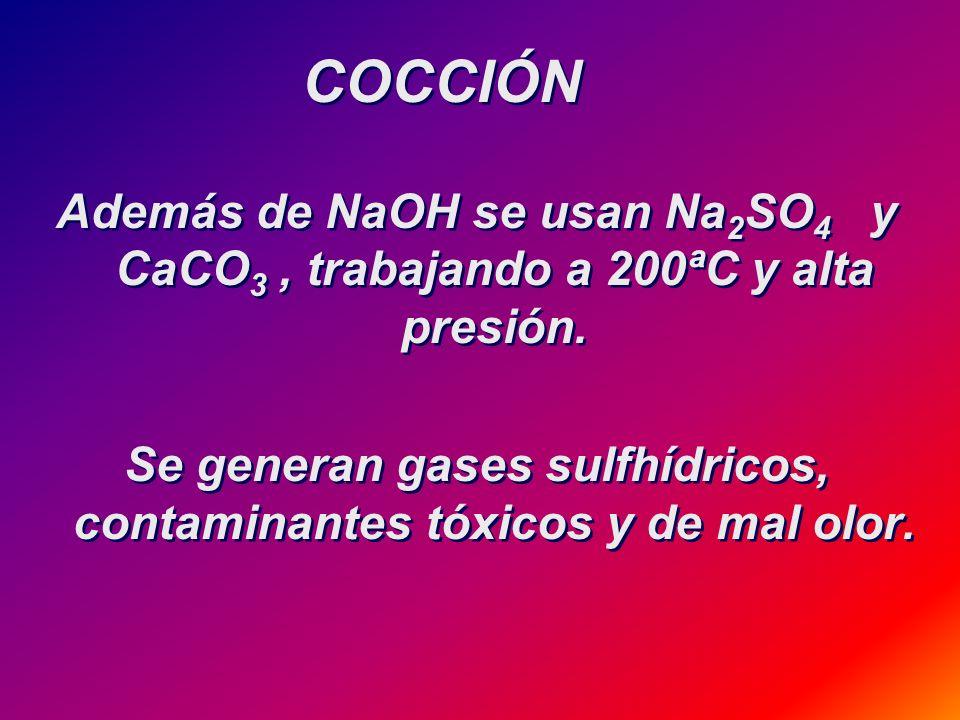 En celdas de diafragma poroso o con cátodo de mercurio OBTENCIÓN DE SODA CÁUSTICA Na 2 CO 3 + Ca(OH) 2 =>CaCO 3 + 2NaOH Electrólisis NaCL(acuoso) =>2