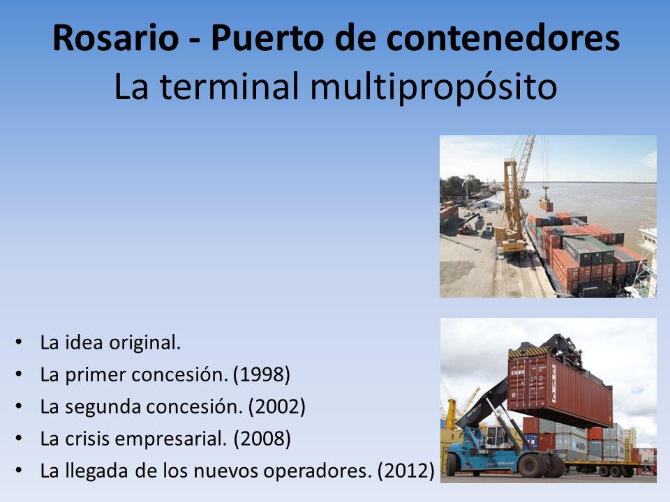 Rosario - Puerto de contenedores La terminal multipropósito La idea original. La primer concesión. (1998) La segunda concesión. (2002) La crisis empre