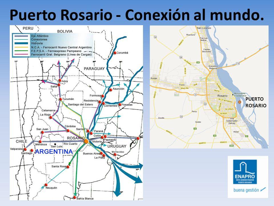 Polo Portuario Gran Rosario Puerto Rosario: Único Puerto de carácter publico de la región.
