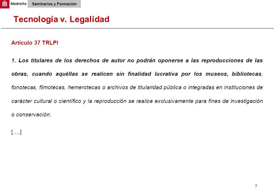 3 Seminarios y Formación Artículo 37 TRLPI 1.