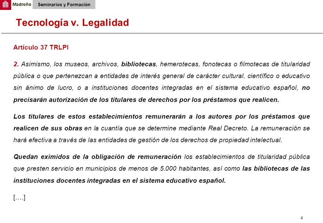 4 Seminarios y Formación Artículo 37 TRLPI 2.