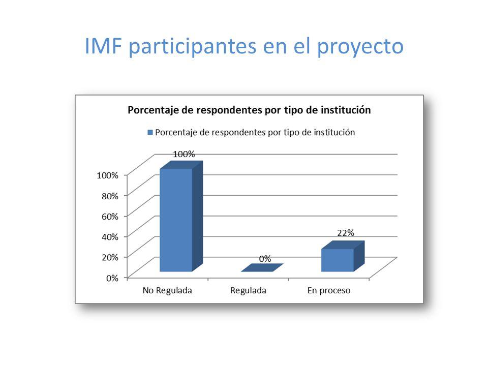 IMF participantes en el proyecto