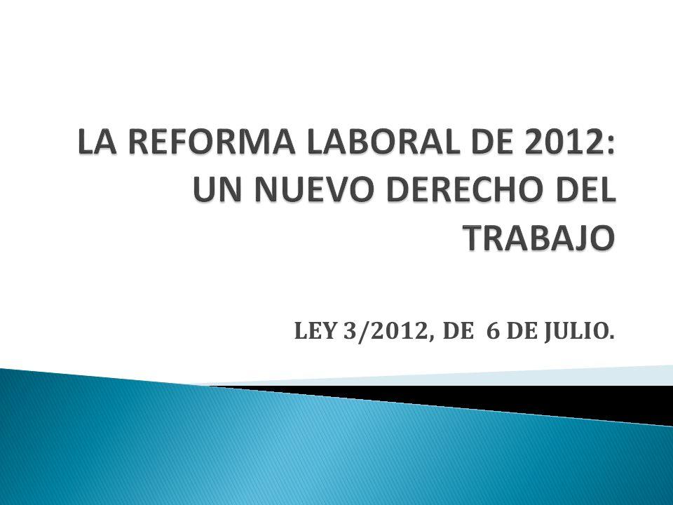 LEY 3/2012, DE 6 DE JULIO.