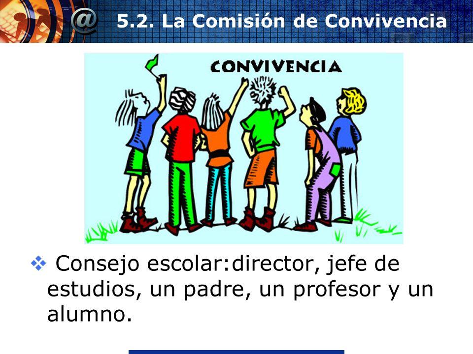 www.thmemgallery.comCompany Logo 5.2. La Comisión de Convivencia Consejo escolar:director, jefe de estudios, un padre, un profesor y un alumno.