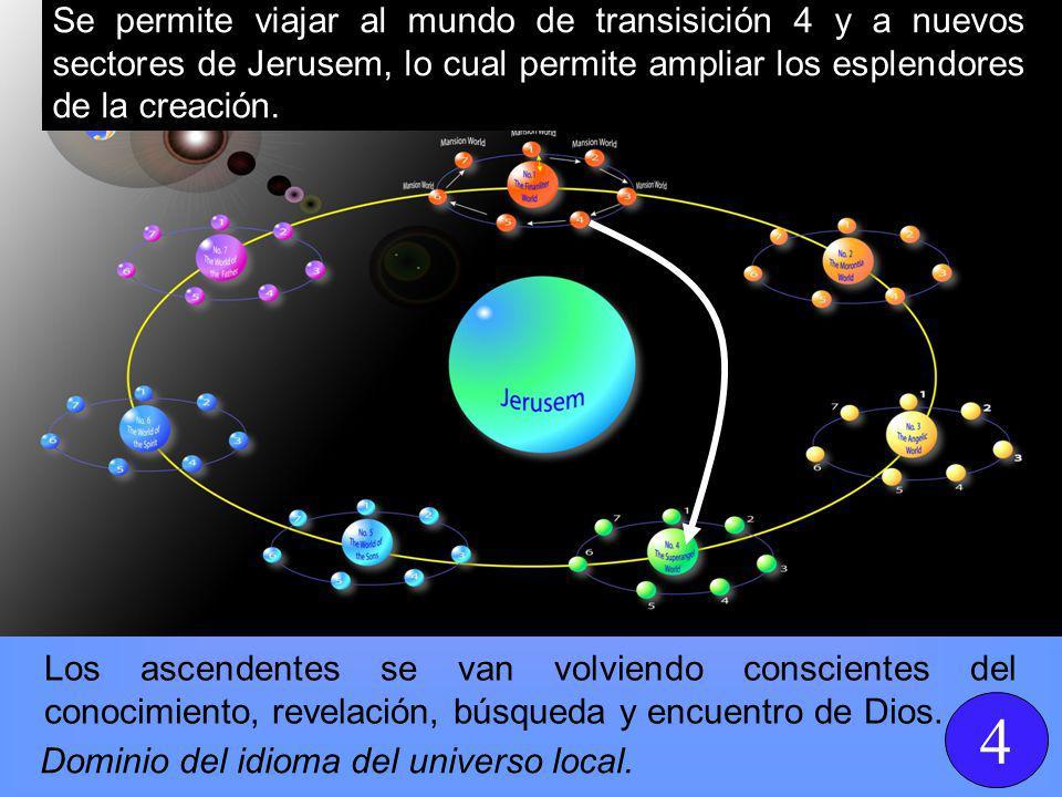 Los ascendentes se van volviendo conscientes del conocimiento, revelación, búsqueda y encuentro de Dios.